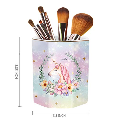 Floral Unicorn Desk Organiser | Pen Holder | Office, Classroom, Home