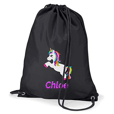 Personalised Embroidered Unicorn Drawstring Bag