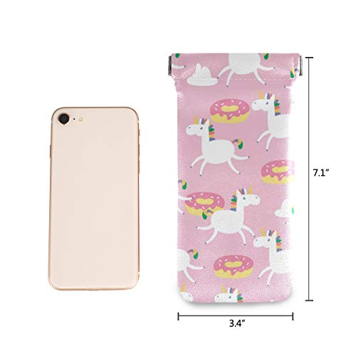 Pink Unicorn Donuts Sunglasses Case