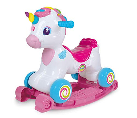Unicorn Ride On 3 in 1 - Multicoloured