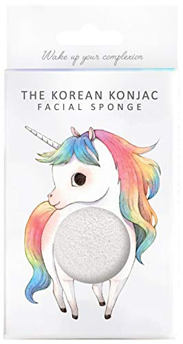Unicorn Facial Sponge & Hook To Cleanse & Exfoliate | Konjac Sponge