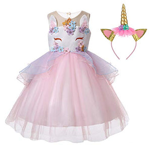 Girls Unicorn Fancy Party Dress | Cosplay Birthday Princess