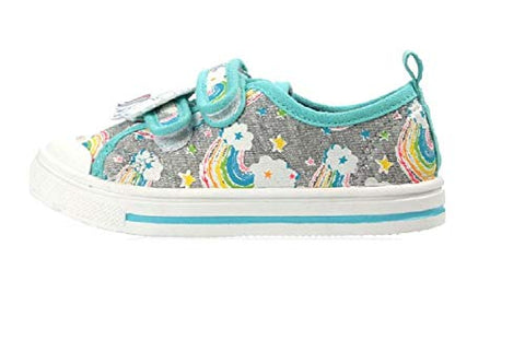 Rainbow Unicorn Girls Canvas Pumps Low Top Plimsole