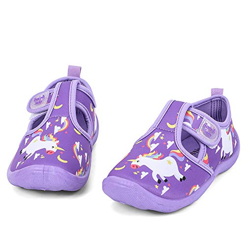 Purple Unicorn Design Girls Beach Pool Water Shoes