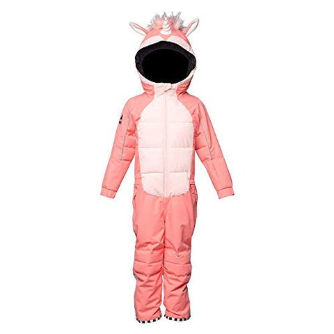 Unicorn Insulated Snowsuit | Pink | 6-8 Years | WeeDo