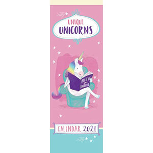 Unique Unicorns Slim Calendar 2021 | Wall Calendar