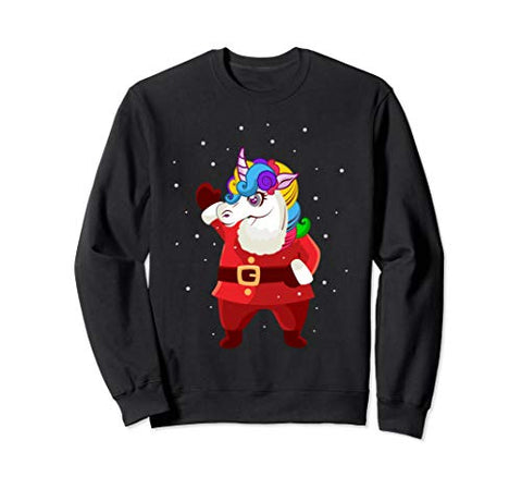 Unicorn Santa Claus Christmas Sweatshirt/ Jumper