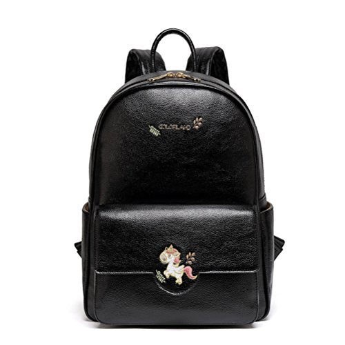 unicorn changing bag nappy bag baby leather black