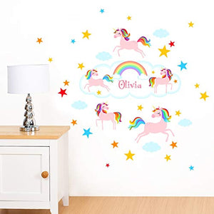 unicorn clouds wall sticker