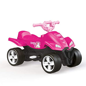 Unicorn Themed Pedal Quad Kids Ride On Pink | Dolu