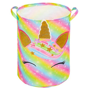 Multi Coloured Unicorn Laundry Basket | Toy Storage | For Kids