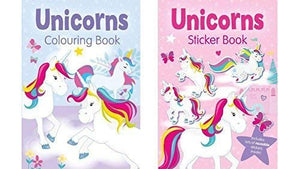 unicorn sticker books x 2