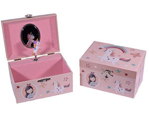 Wind Up Musical Jewellery Box Girls Unicorn Design- Birthday Gift