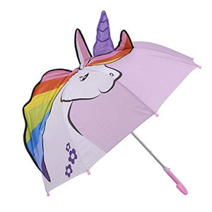 Pink Unicorn Pop up Small Umbrella for Kids | Age 3-7