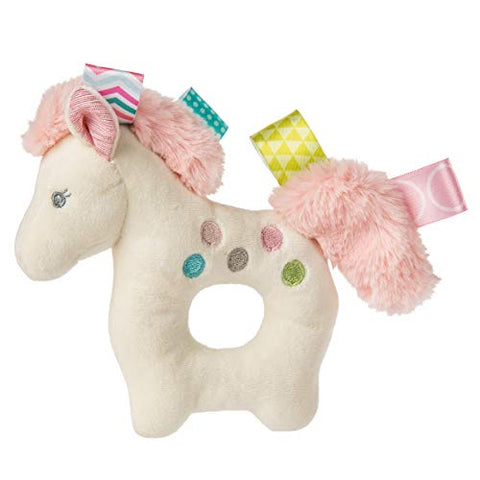 Unicorn Taggies Stuffed Soft Ring Rattle