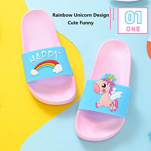 Unicorn pink and blue sliders rainbows and clouds