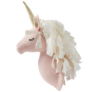 Mud Pie Baby Girl Dream in Glitter Nursery Decor Unicorn Wall Mount 12 inches (Blue)