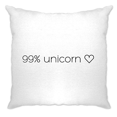 99% Unicorn Heart Believe In Unicorns I Am A Unicorn Magical Girly I Don't Believe In Humans Mythical Creature Rainbows Birthday Novelty Cushion Cover Sofa Home Cool Birthday Gift Present