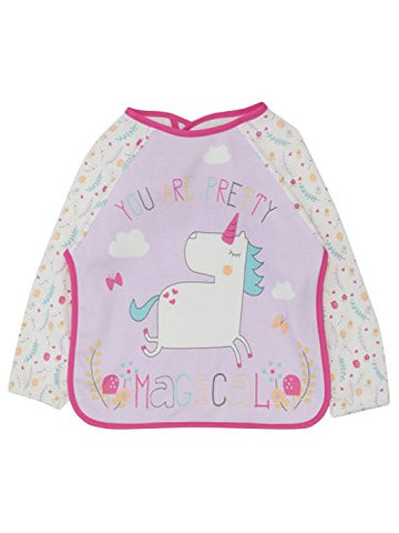 Cool unicorn baby coverall bib apron pink lilac