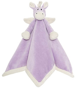 lilac unicorn themed baby comforter