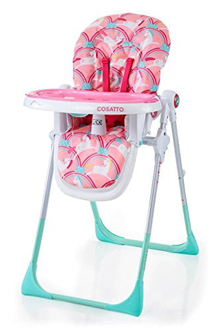 cosatto unicorn high chair - pink and blue