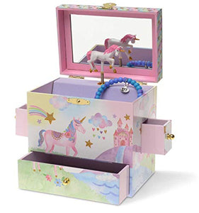 Magical Jewellery Box 3 Drawers, Rainbow Unicorn Design, Musical