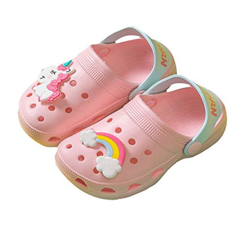 Cute Unicorn Pastel Pink Kids Girls Clogs