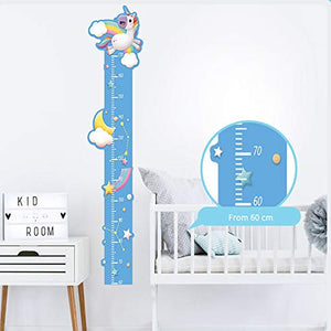 Cute Unicorn Height Chart Room Wall Stickers | Home Decoration