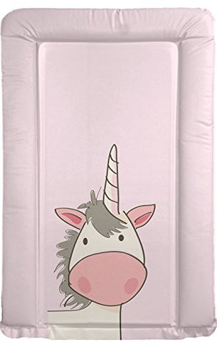 unicorn baby changing mat girls in pink