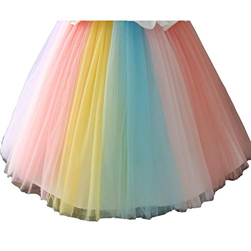 Girls Unicorn Fancy Dress Costume Dress Princess Unicorn Tutu - Pastel