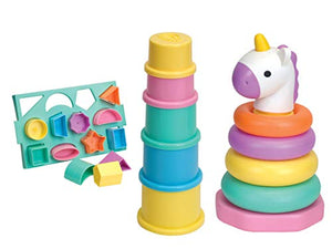 Unicorn Learning Gift Set | Stacking Cups | Unicorn Stacker | Shape Sorter