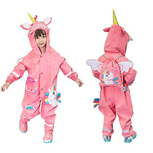 Unicorn Waterproof Puddle Suits For Girls | Pink