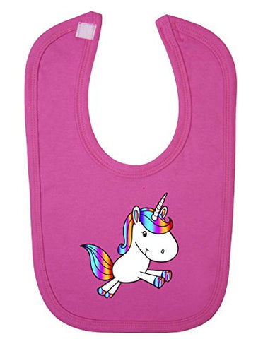 Sweet Pink Unicorn Bib