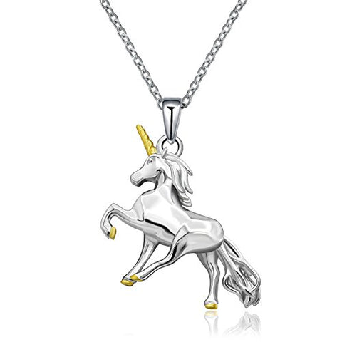 925 Sterling Silver Little Princess Unicorn Pendant Necklace Gifts