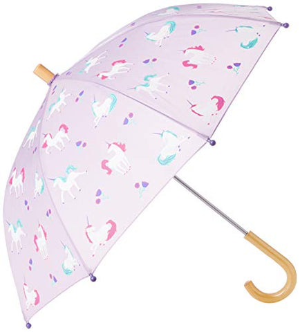 Hatley Girl's Unicorn Design Umbrella | Playful Unicorns