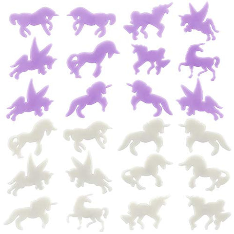 Unicorn Glow in Dark Stickers | Night Glowing Wall Ceiling Decals | 24 Pieces