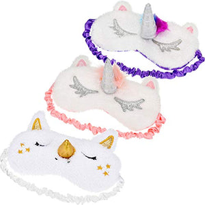 3 Pack Unicorn Sleeping Masks | Blindfold | Eye Mask