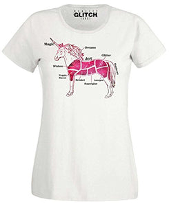 Women's Butcher Unicorn Cuts T-Shirt  | Reality Glitch (White)