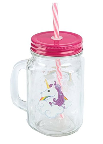 Enchanted Unicorn Rainbow Glass Jar with Stopper