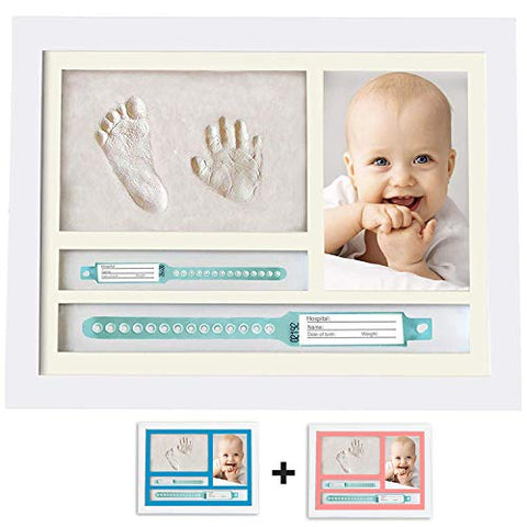 Baby Handprint and Footprint Photo Frame kit | Ideal Baby Shower, Newborn Gift