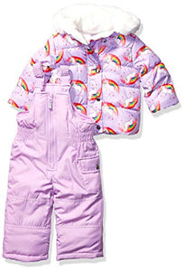 Carter's Baby Girls' Heavyweight Jacket and Pants Snowsuit | Unicorns & Rainbows