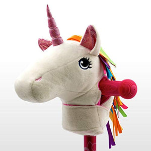 unicorn head scooter accessory white multicoloured mane