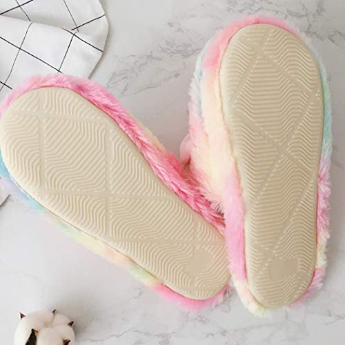 Unicorn Slippers - Soft Fluffy and Pastel Colours