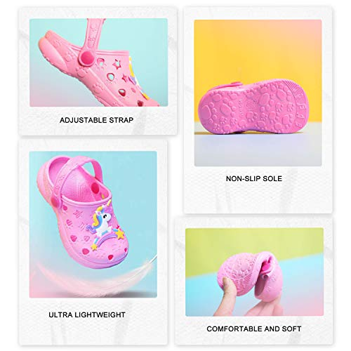 Crocs Style Pink  Unicorn Toddler Kids Summer Sandals