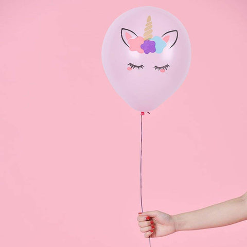 Unicorn Balloons White and Pink - 10 Pack