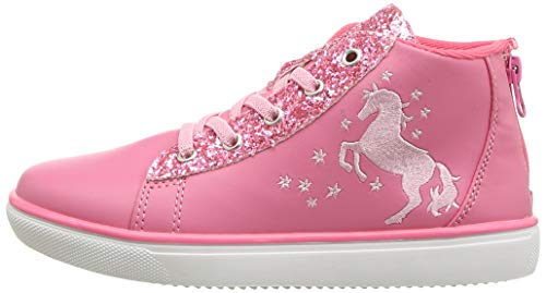 Pink glittery unicorn trainers girls