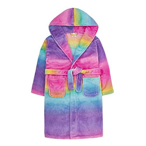 Girls Bright Rainbow Gradient Dressing Gown | Mutlicoloured | Various Sizes