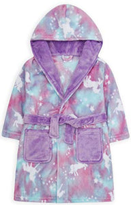 Rainbow Ombre Unicorn Dressing Gown | Kids | Soft Bathrobe