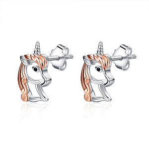 Unicorn Gifts 925 Sterling Silver Unicorn Stud Earrings Jewellery For Women/Girls