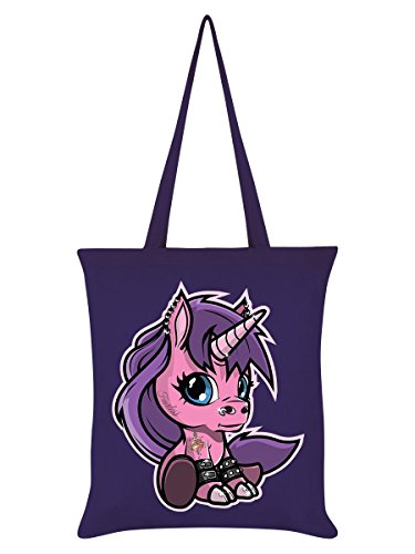 Fearless The Baby Unicorn Tote Bag Purple 38x42cm